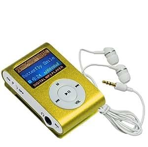 Swees Mini 4GB Clip Mp3 player mit FM radio LCD-Display Grün