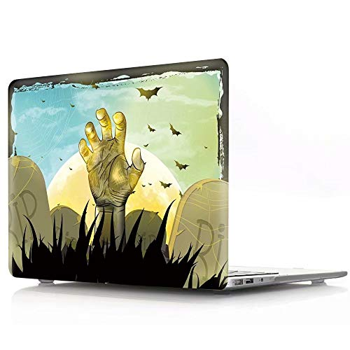 sunway Halloween Apple MacBook Laptop Case,MacBook 12 Inch Retina Case,Plastic Soft-Touch Halloween Pattern Case Cover Compatible Apple MacBook 12 Inch Retina Display (Models: A1534) - Golden Zombie