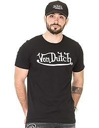 a029a6f3489 Von Dutch Vondutch - T-Shirt Homme Best Noir Imprimé Blanc