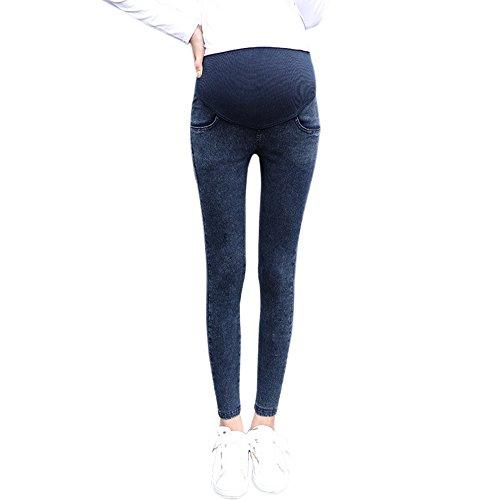 KINDOYO Herbst Neue Mode Mutterschaft Hosen Mutterschaft Hosen Bein hohe Taille elastische Leggings (Blau, 2XL) (Bleistift-bein-hose)