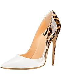 Trusify Mujer 12cm EU tamaño 34-46 Trusurvey Tacón de aguja 12CM Sintético Zapatos de tacón