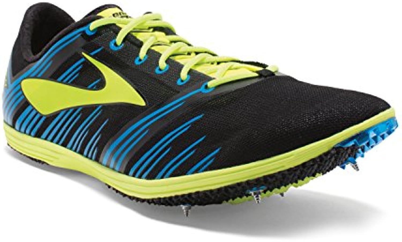 BROOKS WIRE 4, color negro y amarillo fluorescente puntas de atletismo