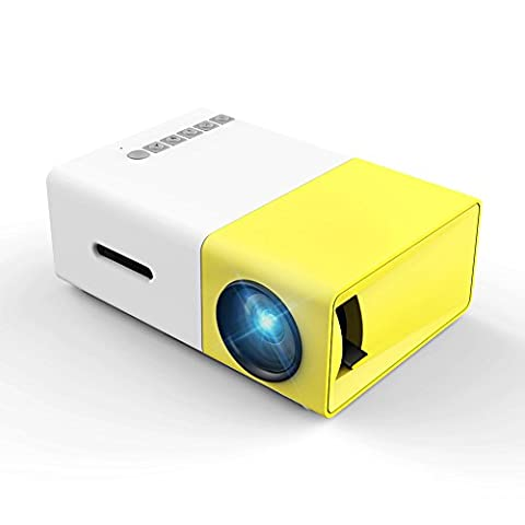 Meer YG300 Portable Mini Pico Full Color LED LCD projector for Children's Gift, Video TV Movie, Party Game, Outdoor Entertainment with HDMI USB AV Interfaces and Remote