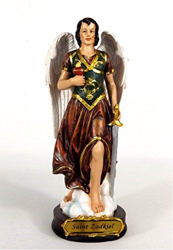 Klp Heiliger Erzengel Zadkiel Deko Figur Skulptur Statue Schwert Drachen Kruzifix