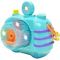 YeahiBaby Bubble Camera Making Bubble Maker Máquina de juguete con música ligera para niños (Wathet)