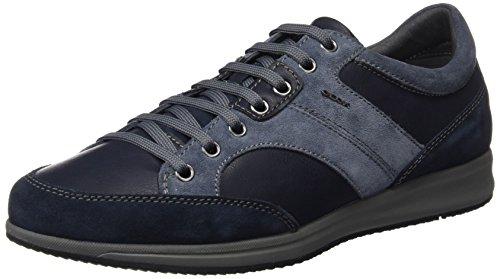 Geox U Avery A, Baskets Basses Pour Hommes Blau (navyc4002)