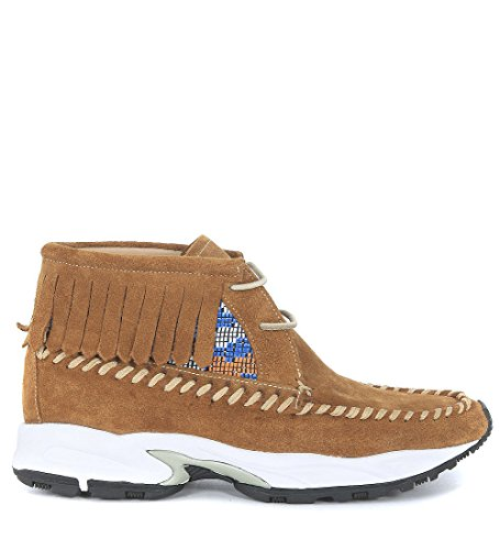 Sneaker Philippe Model Totem camoscio marrone cuoio Marrone