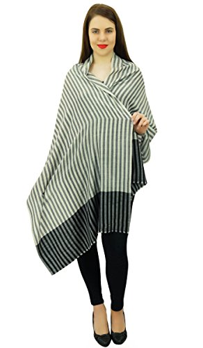 Femmes Tête De Cou Wrap Châle Cachemire Écharpe De Soie Écharpe Hijab Volé Noir et blanc