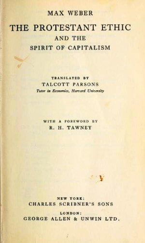 max webers thoughts on capitalism Max weber, one of the three in opposition to the prevailing thoughts and practices of the catholic church at the time an important element of capitalism and.