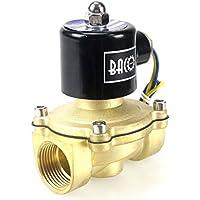 """BACOENG DC 12V 1"""" válvula de solenoide eléctrica Latón Solenoid Valve para agua aire aceite NC"""