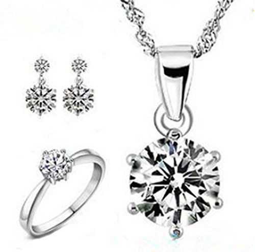 saysure-silver-plated-jewelry-sets-rings-stud-earrings-necklace