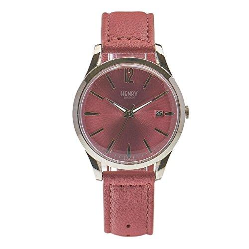 Henry London Unisex-Armbanduhr Hammersmith Analog Quarz Leder HL39-S-0061 (Zertifiziert und Generalüberholt)