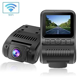 Dashcam-WiFi-1080P-FHD-Autokamera-20-Zoll-LCD-Dashcam-with-Super-Nachtsicht-170-Weitwinkelobjektiv-G-Sensor-Loop-Aufnahme-Bewegungserkennung-Parkmonitor-WDR