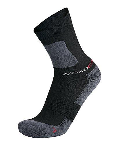 Nordcap Allround-Sportsocken kurz in Schwarz, 6er Pack Sport-Socken, atmungsaktive Strümpfe, unisex Wandersocken, Gr. 35 - 46, Menge: 6 Stück