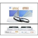 Omax uv Filter for Nikon d3500/ d3400 af-p dx nikkor 18-55mm vr + af-p dx nikkor 70-300mm vr Lens