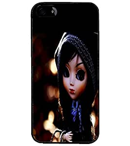PrintDhaba Cute Doll D-1044 Back Case Cover for APPLE IPHONE 5 (Multi-Coloured)