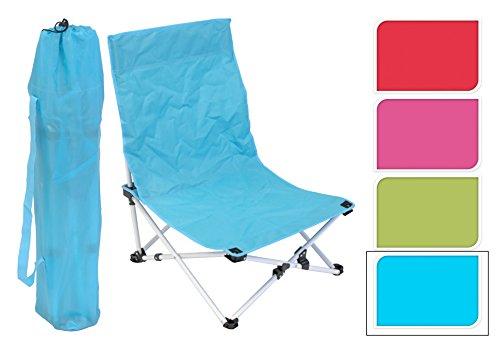 Strand stuhl Strandstuhl Beach Campingstuhl 63 x 50 x 41 cm Pink Blau Grün Gelb (Blau)