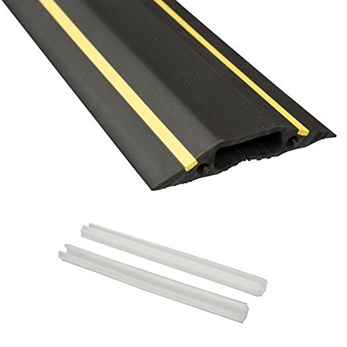 D Line FC83H/9M Medium Duty Linkable Cable Protector/Floor Cable Cover |  Cable Tidy Trip Protection | Prevent Cable Trip Hazards In Home U0026 Office.
