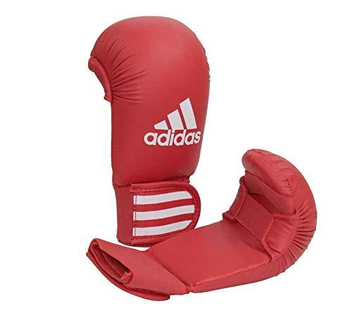 adidas Karate Kumite Faustschützer / Handschutz / Faustschutz, Farbe rot, Gr. S