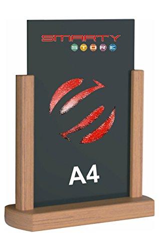 Tafel portavvisi Standbohrmaschine A4mit Bilderrahmen aus Holz–Finish in Teak