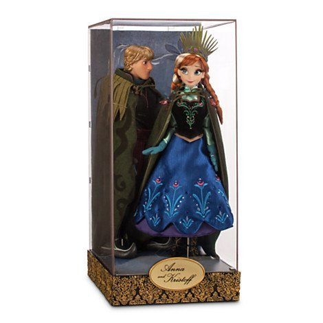 Disney Exclusive Limited Edition Frozen Fairytale Designer Collection Anna and Kristoff Doll Set