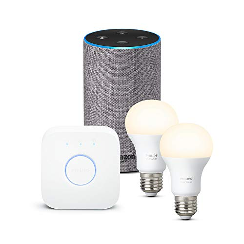 Amazon Echo (2.ª generación), tela de color gris oscuro + Philips Hue...