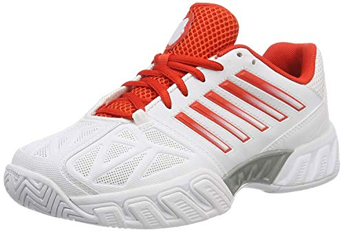 K-Swiss Performance Damen Bigshot Light 3 Tennisschuhe, Weiß (White/Fiesta/Silver 30), 40 EU
