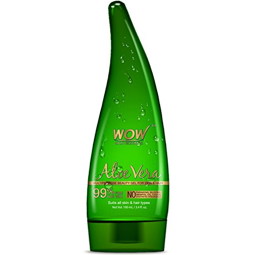 Wow Aloe Vera Multipurpose Beuty Gel for Skin and Hair, 100ml