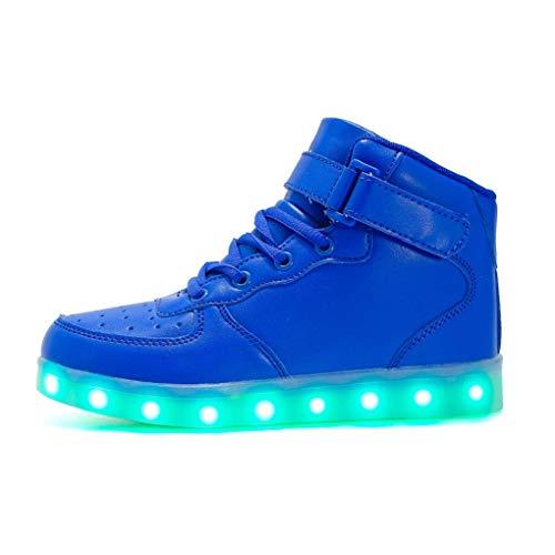 Topcloud Hoch Oben Blinkt USB Lade LED leuchtet Damen Herren Kinder Sportschuhe Turnschuhe für Weihnachten Halloween