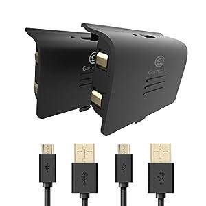 GameSir Akku für Xbox One Controller, 2-Pack 800mAh wiederaufladbare Battery mit USB Ladekabel für Xbox One, Xbox One S…