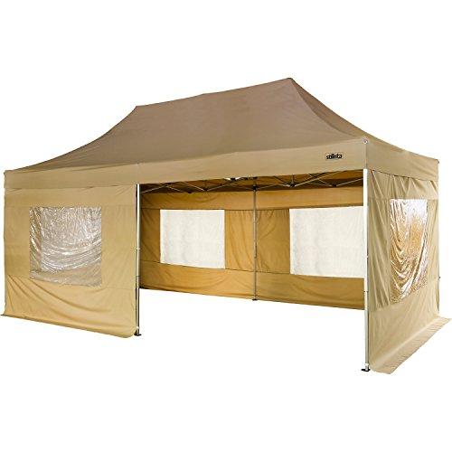 Maxstore Profi Falt-Pavillon 3x6m inkl. Seitenteile, WASSERDICHT, versiegelte Nähte, EV1 Voll-Aluminium, Tragetasche