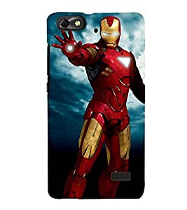 Takkloo super hero ( man in red iron costume, man wearing mask, warrior, blue background, yellow iron mask) Printed Designer Back Case Cover for Huawei Honor 4C :: Huawei G Play Mini