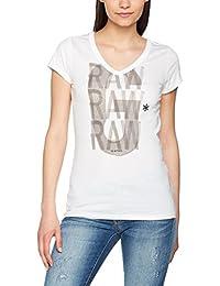 G-STAR RAW Phili Sp Slim V T Wmn S/S, Camiseta para Mujer