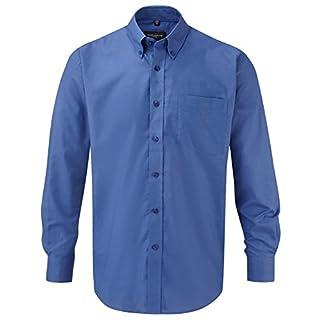 Russell Collection! Pflegeleichtes Langarm Oxford Hemd auch in Übergrößen M / 39/40 /15.5,aztec blue