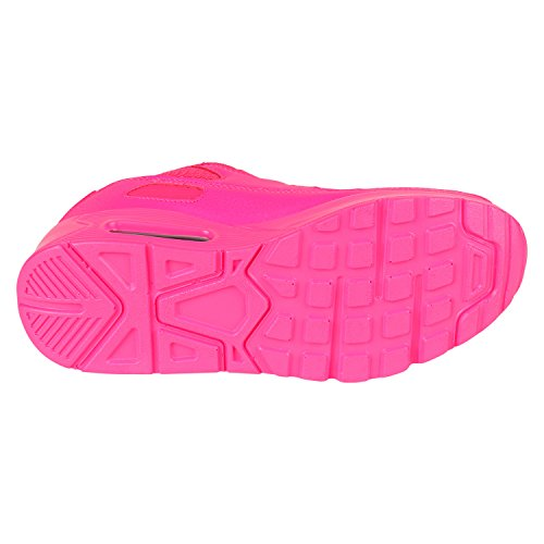 Damen Herren Unisex Sportschuhe Profil Sohle Laufschuhe Fitness Runners VanHill Pink