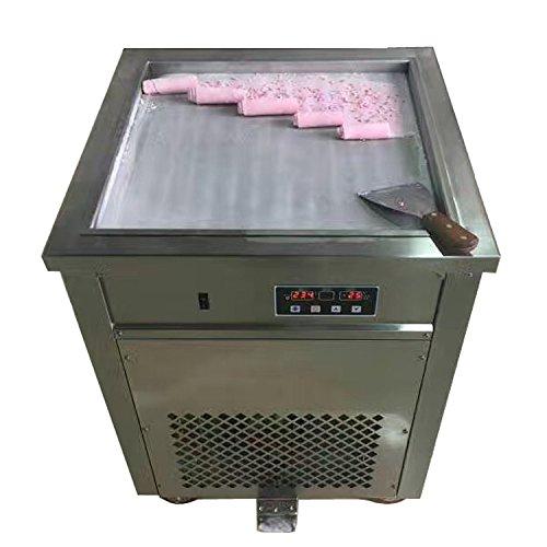"Generic Stainless Steel 110v 220v Electric 19.7"" Thai Fry Pan Ice Cream Rolled Yogurt Maker Fried Ice Cream Roll Machine"