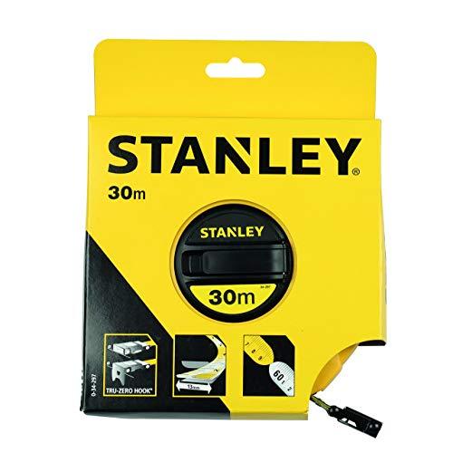 Stanley Kapselbandmass Fiberglas (30 m Länge, ABS-Kunststoffgehäuse, klappbare Kurbel, Band beschichtet) 0-34-297 (30 Maßband M)