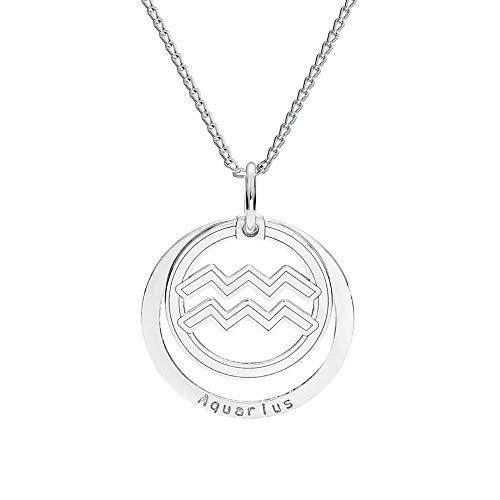 *farfalla rossa * - collana - segno zodiacale - acquario - con catena in argento 925 con ciondolo, collana con custodia