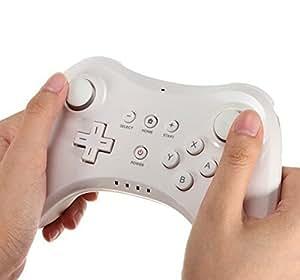 Althemax® pro contrôleur manette télécommande classique sans fil pour Nintendo Wii U + câble blanc