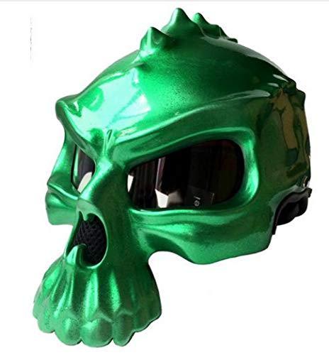 OLEEKA Mezzo casco per casco da motociclista Retro Skull Shape D.O.T Safety Standard unisex Trend Creative Helmet (M, L, XL, XXL),