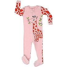 3ec90e5681 Elowel Mädchen Einteiler Strampler Giraffe Schlafanzug 100% Baumwolle Slim  Fit