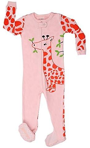 Pyjama Grenouillere Girafe - Elowel Bebe Fille grenouillere