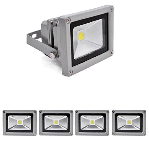 OUMIZHI 5x 10W LED Flutlicht Scheinwerfer Spot Light Flutlicht Wasserdicht IP65 Cool White [Energieklasse A]