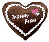 Lebkuchenherz Kissen Traumfrau - Kissen in Herzform - Plüschkissen - Plüsch Herzkissen