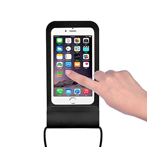 Universal Wasserdichte Handy-Tasche Unterwasser Dry Schutzhülle IPX8Voll Tauchfähig Tasche kompatibel iPhone 7/iPhone 8/iPhone 8Plus/iPhone X/iPhone 7Plus -