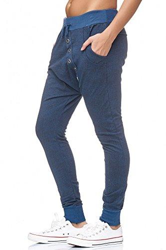 JillyMode coole Boyfriend Hose mit Sterne A1036 H141-Jeansblau