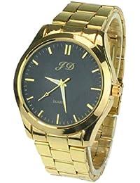 Culater® Reloj De Pulsera De Acero Inoxidable CláSico De Cuarzo AnalóGico Nueva Hombres De Lujo De Oro(negro)