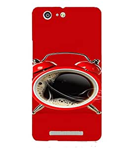 PrintVisa Black Coffee Alarm Design 3D Hard Polycarbonate Designer Back Case Cover for Gionee Marathon M5 Lite