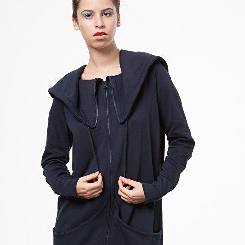 THOKKTHOKK TT1013 Yuki Zipjacket Eclipse Woman aus 100% Biobaumwolle hergestellt // GOTS & Fairtrade Zertifiziert, Größe:S/M - 6