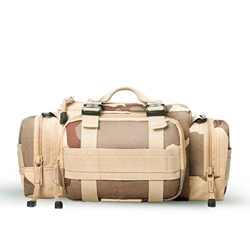 LJ&L Outdoor-Sport-Multifunktions-Taschen, Wandertour wasserdichte Kameratasche, taktische Taschen, Multifunktions-Umhängetasche, verstellbarer Riemen D